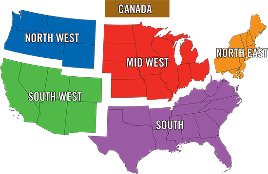 Map Of Northwest Us And South West Canada Distributors